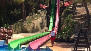Holiday maker 'nearly dies' on Benidorm water slide