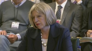 Theresa May is giving evidence to the Home Affairs Select Committee.