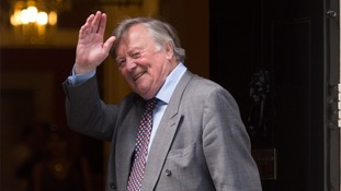 Kenneth Clarke was pictured at No 10 amid rumours he is to be replaced.
