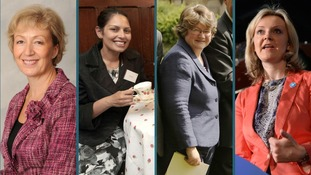 Northamptonshire MP Andrea Leadsom, Essex MP Priti Patel, Suffolk MP Therese Coffey and Norfolk MP Liz Truss.