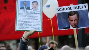 NUT protests against Michael Gove in Bristol last year.