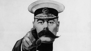 Lord Kitchener graced the famous 'Britons wants you' poster campaign for recruitment.