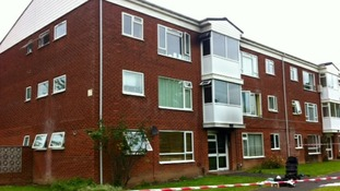 The block of flats where a fire broke out which lead to over 20 people being evacuated and 4 rescued.