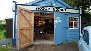 Vintage Motor Works Shed