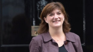 Loughborough MP Nicky Morgan outside 10 Downing Street today
