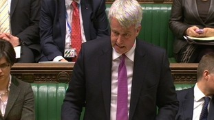 Andrew Lansley at the Dispatch Box of the House of Commons.