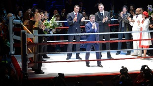 Sylvester Stallone, who played Rocky on the big screen,  at the premiere of Rocky the musical