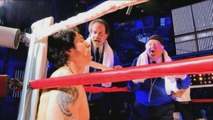 Andy Karl as Rocky Balboa in Rocky the musical.