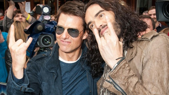 Tom Cruise and Russell Brand 