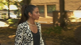 Tulisa arriving at Southwark Crown Court.