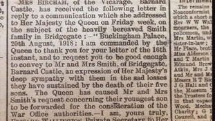 An article in local newspaper the Teesdale Mercury tells of how Queen Mary intervened.