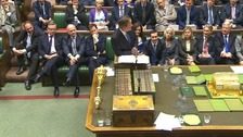 David Cameron speaking during PMQs