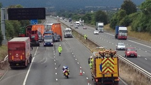 Motorway closure on M5