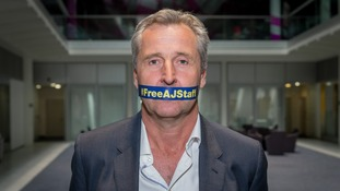 Mark Austin shows his support for the campaign.