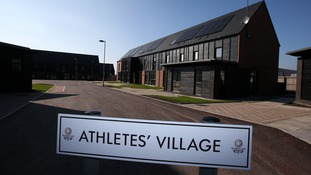The athletes' village in Glasgow where they will stay from July 23 when the Games get underway.