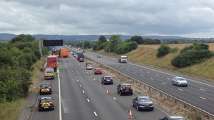 Lane re-opens on M5