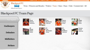 Blackpool FC website