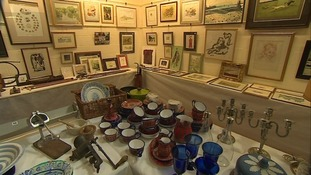 Items, including cutlery and furniture, is up for auction
