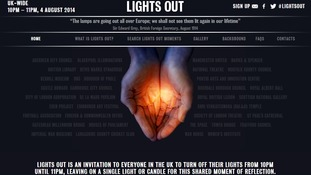 The Lights Out campaign wants people to leave on a single light or candle 'for this shared moment of reflection.'