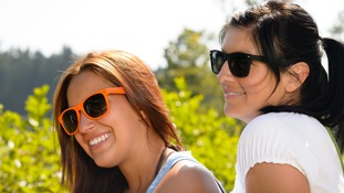 People have been urged to wear sunglasses.