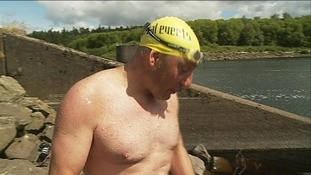 Long distance swimmer conquers Kielder