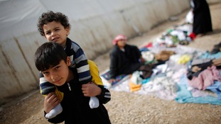 Syrian refugees at a camp in Nizip, near the Turkish-Syrian border