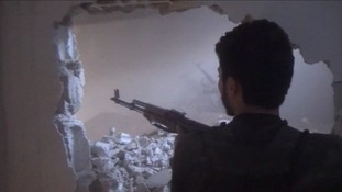 The rebels break through into the building occupied by the Syrian regime.