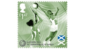 The special souvenir stamps issued by the Royal Mail.