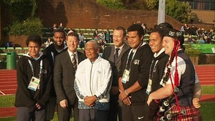 The Fiji Commonwealth team got a warm welcome from the people of Dumfries