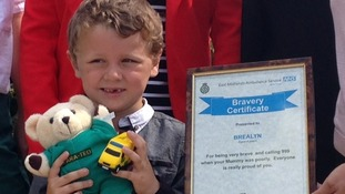 Brealyn Adams dialled 999 and spoke to the operator