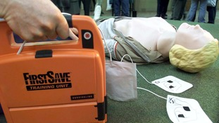 Defibrillators are used to help restart someones heart if they are having a cardiac arrest