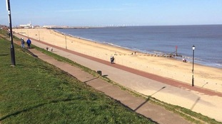 There was hardly a cloud in the sky at Gorleston.