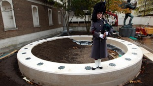 The Flanders Fields Memorial Garden at the Guards Museum at Wellington Barracks in London.