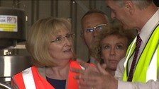 Shadow Scottish Secretary Margaret Curran tours a Lockerbie factory