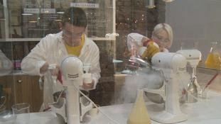 Science Cream ice cream being prepared
