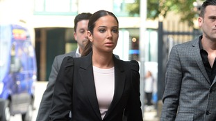 Tulisa Contostavlos arriving at Southwark Crown Court.