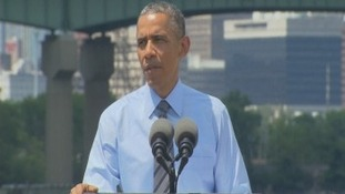 President Obama addresses press after Malaysia plane crash