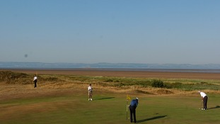 The Royal Liverpool Golf Club where the world's top golfers prepared for the Open at Hoylake.