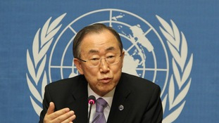 The UN Chief Ban Ki-Moon.