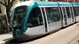 These are the new style trams being testing on Line One, before the extensions open in early 2015