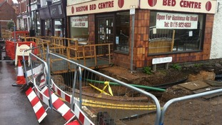 How some businesses have been affected along the route in Beeston