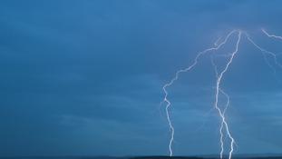 Two cloud to ground strikes from Bradninch, Devon