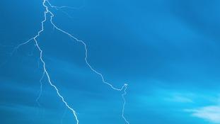 Lightning in Bradninch, Devon