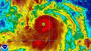 Satellite image of Typhoon Rammasun