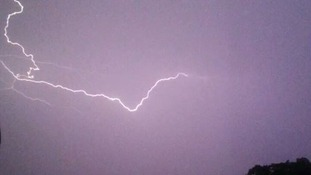 Lightning in Northampton at 3.30am on Friday 18 July 2014