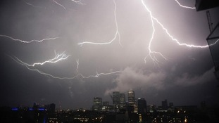 Powerful storm moves across London