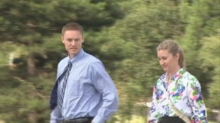 James and Dana Haymore arriving at Colchester Magistrates' Court in Essex.