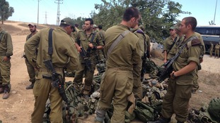 The army preparing to go into Gaza.