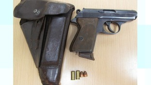 The Walther PPK gun from the Second World War found in the home of Jonathan Farmer