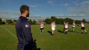 Leeds Rhinos and England international Zak Hardaker joins the Canalsiders for training.